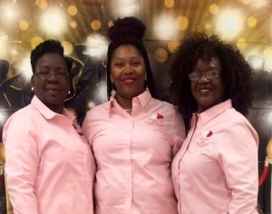 Pretty in Pink Shirley Daniels, Felisha Draggs and Tracy Barber