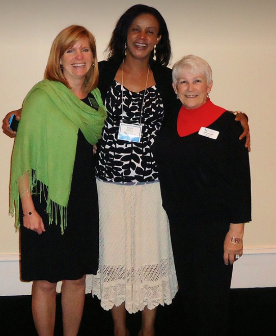 The original Cobb County Parent Mentors, (from left) Stacey Ramirez, with Ijeoma Ajoku and Judith Steuber.
