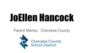JoEllen Hancock, parent mentor