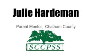 Juliet Hardeman, parent mentor