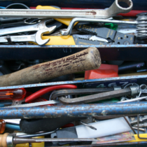 drawers full of old tools