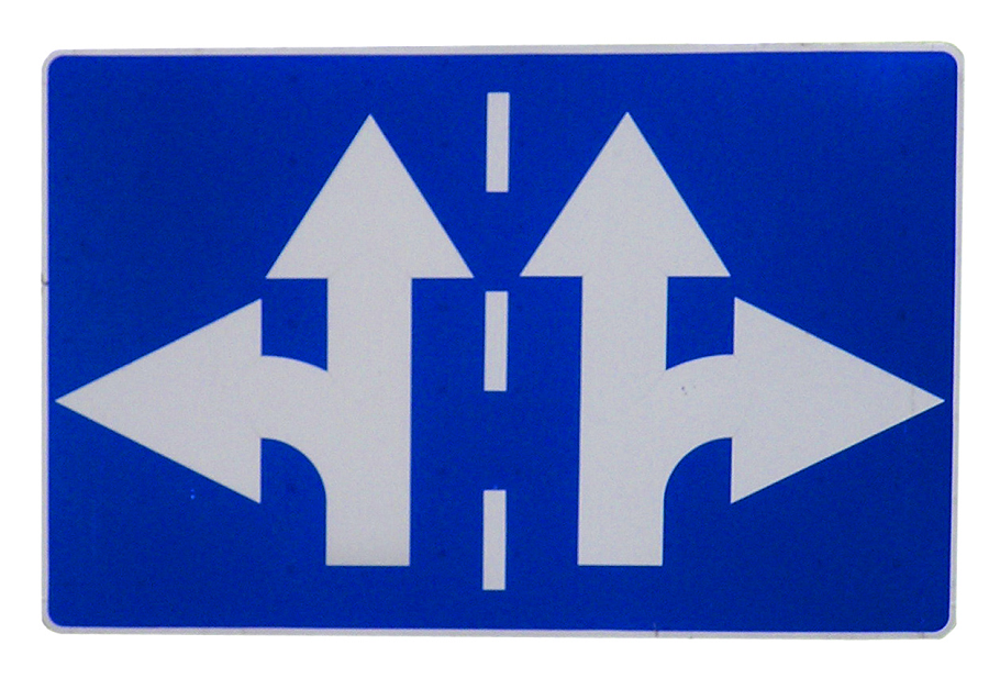 sign pointing in several directions