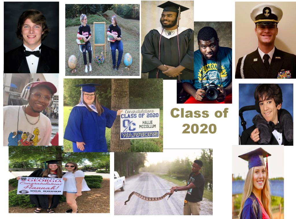 Collage of photos of graduates
